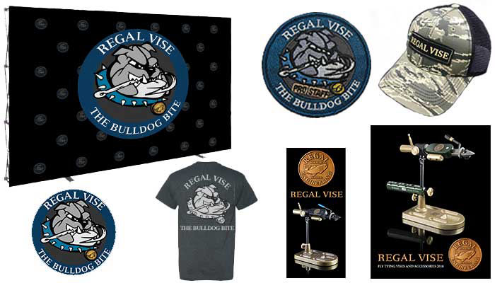 Marketing materials including hats, stickers, phamplets, booths, and t shirts