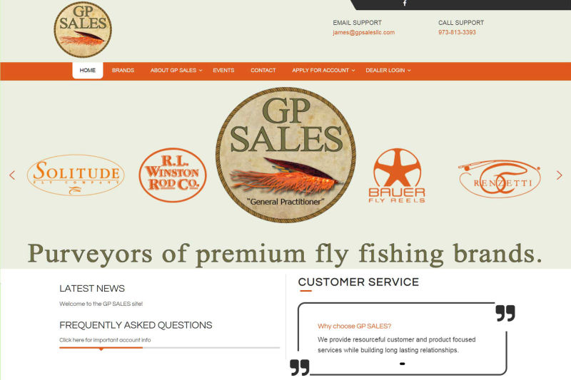 Example of Wordpress website for GP SALES